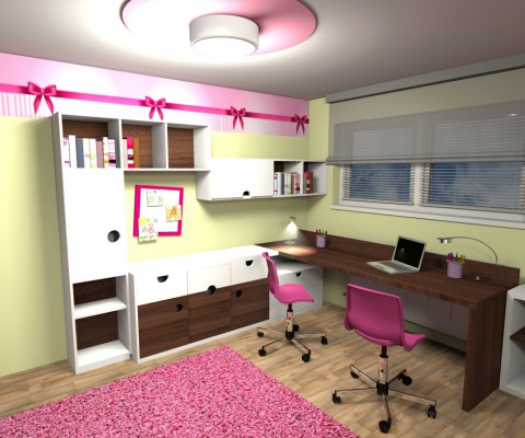 Dětský pokoj s mašlí-4
