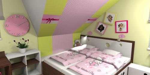 Dětský pokoj s mašlí-3