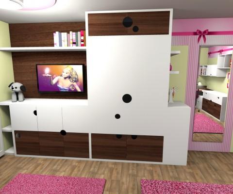 Dětský pokoj s mašlí-2