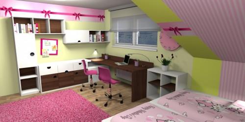 Dětský pokoj s mašlí-1