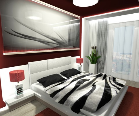 Ložnice skleněný obraz-2
