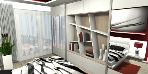 Ložnice skleněný obraz-1