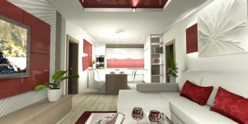 Obývací pokoj s kuchyní 1